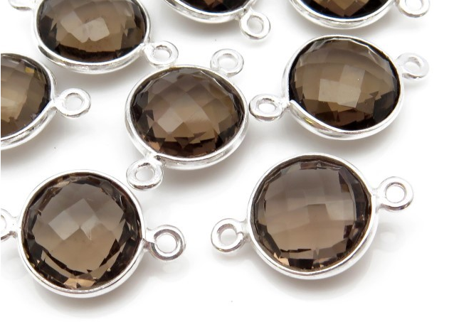 Bezel Gemstone Connectors